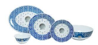 Nautical Themed Dinnerware Sets - blue shell indoor outdoor dinnerware