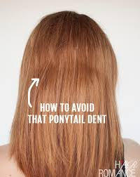 no crease hair ties how to avoid the ponytail dent hair