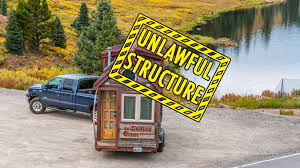 tiny house eviction how parking a tiny house can be illegal with