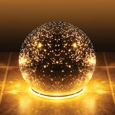 lighted mercury glass sphere gazing battery powered