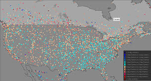 Usa Weather Map Study Many Us Weather Stations Show Cooling Maximum Temperatures