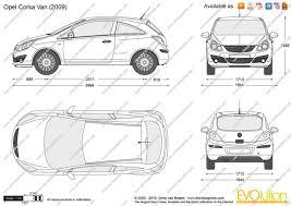 opel corsa 2008 the blueprints com vector drawing opel corsa d van