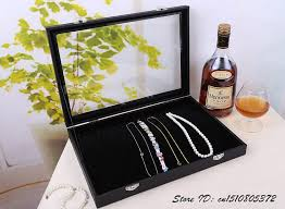 necklace display case images Buy super white leatherette necklace display jpg
