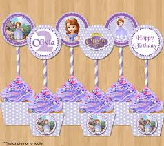 sofia the party ideas sofia the cupcake toppers and wrappers princess sofia