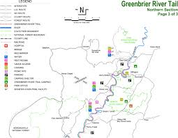 West Virginia State Parks Map by Greenbrier River Rails To Trails