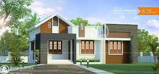 2 home designs 828 sq ft single floor contemporary home designs