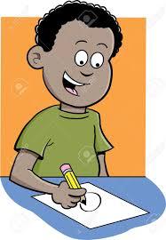 kid homework cartoon