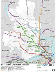 Boston Transit Map by Boston Massachusetts Boothe Transit