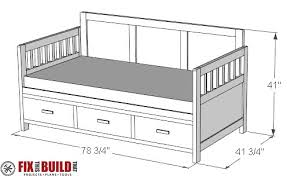 day bed plans diy daybed with storage drawers twin size bed fixthisbuildthat