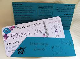 Boarding Pass Save The Date Boarding Pass Save The Date With Travel Folder