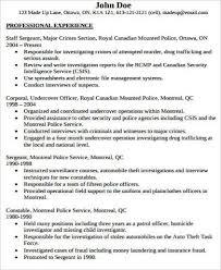 Special Police Officer Resume Police Officer Resume Lukex Co