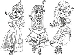 the amazing coloring pages for girls monster high pertaining to