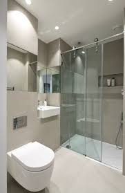 White Bathroom Tile by Bathroom Modern Shower Room Design With White Toilet White