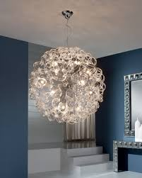 Ball Light Fixture by Ball Pendant Light With Curly Ribbons Of Glass Medium Or Large