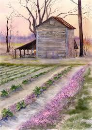 rose hill barn original watercolor the golden gallery