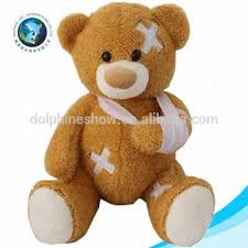 get well soon teddy get well soon fashion plush teddy custom injured