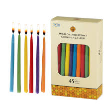 hanukkah candles colors chanukah beeswax colored candles