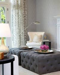 Grey Tufted Ottoman Sofa Linen Tufted Ottoman Small Ottoman Tufted Leather
