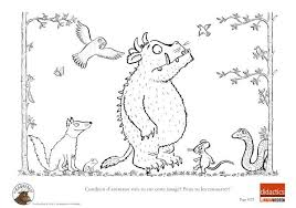 gruffalo colouring pages to print funycoloring