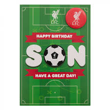 lfc badge birthday card son liverpool fc official store