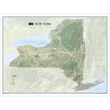 Map New York State New York State Wall Map National Geographic Store