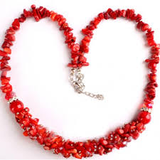 natural stone beads necklace images Natural stone or coral chip beads necklace jpg