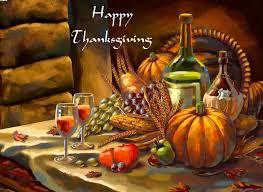 happy thanksgiving food illustration