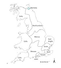 Britain Blank Map by The Anglo Saxons U2013 Aberlady Angles