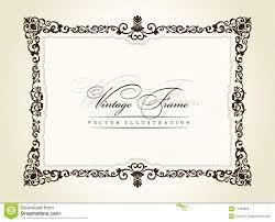 vector vintage frame retro decor ornament royalty free stock image