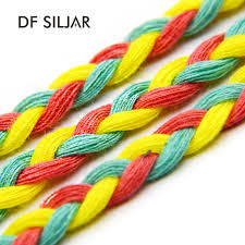 colored rope necklace images Colored waxed cotton cord braided cords for necklace bracelet jpg