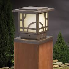 Kichler Step Lights Larkin Estate Post Cap Light By Kichler Decksdirect