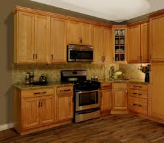 Color Schemes For Kitchens With Oak Cabinets Red Oak Wood Dark Roast Shaker Door Kitchen Paint Colors With