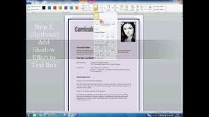 how to insert a picture to your cv youtube