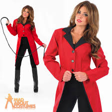 Lion Tamer Halloween Costume Ringmaster Jacket Circus Ladies Fancy Dress Costume Lion