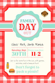 Family Day Invitation Card Family Day Out U2014 Vintage Church