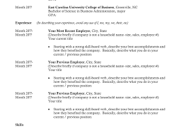 resume templates for college graduates college junior resume