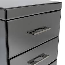 bentley grey charles bentley grey glass 3 drawer bedside chest charles bentley