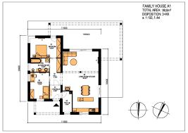 floor plan of modern family house moderndream modern family house a1 disposition 3 kk usable area