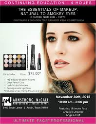 armstrong mccall fall hairshow makeup class great deal plus continuing education armstrong