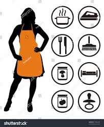 House Keeping by Housewife Housekeeping Icons Vector Illustration Stock Vector