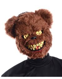 scary halloween masks party city brown scary teddy bear mask u2013 spirit halloween halloween