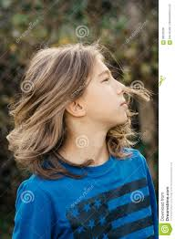 in long hair boy with long hair stock photo image 90530206