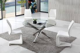 traditional round glass dining table bellevue 130cm round glass dining table with 4 malibu white