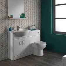 Combination Vanity Units For Bathrooms by Sienna Autograph White Gloss Combination Vanity Unit Small