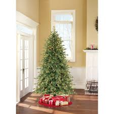 Artificial Trees For Home Decor Holiday Time Pre Lit 7 5 U0027 Linden Fir Artificial Christmas Tree