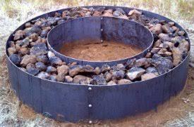 Firepit Liner Steel Pit Ring Metal Liner Wall Garden