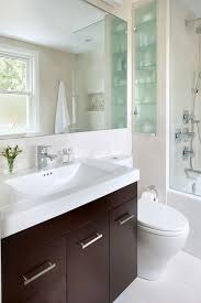 Contemporary Bathroom Mirrors by Cabinet In Niche Bathroom Contemporary With Frosted Glass Metal