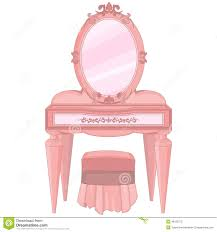 Girls Vanity Table And Stool Dressing Table Stock Vector Image 48125275