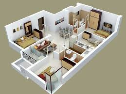 Four  Bedroom ApartmentHouse Plans Furniture Layout - Four bedroom house design