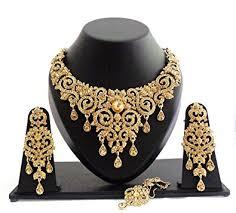gold choker necklace sets images Buy geruaa designer golden stone wedding bridal choker jewelry jpg